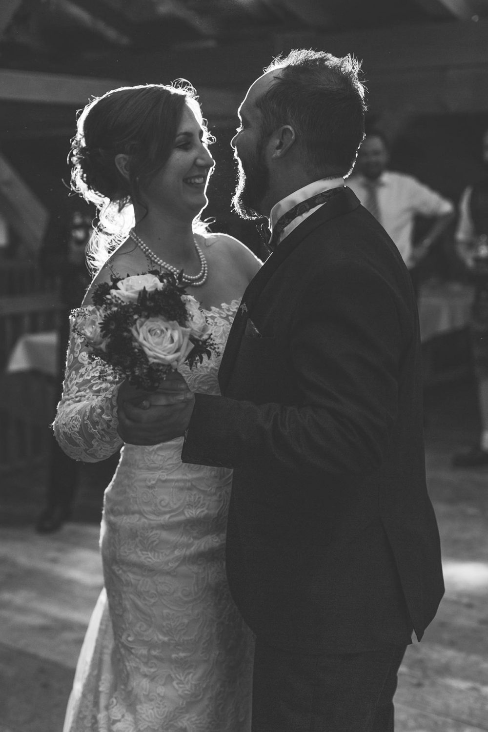 first dance of a couple at night